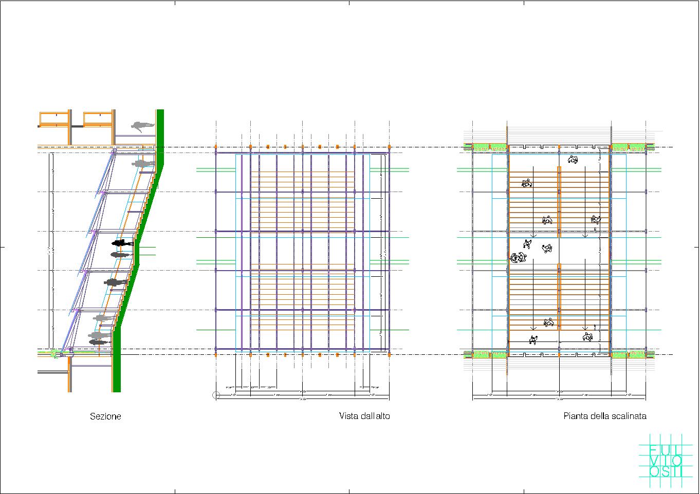piante-e-sezione-della-scalinata-vetrata